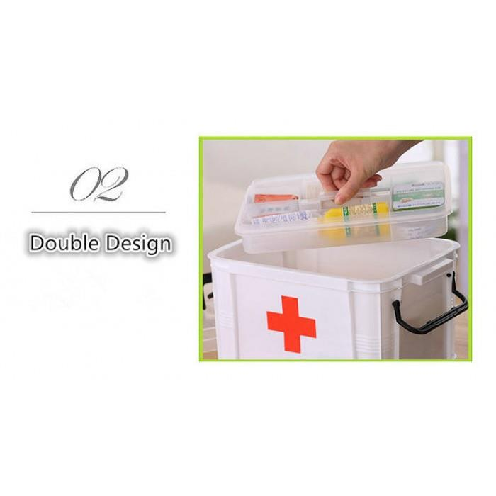 Multi-layered Family First Aid Kit Box Medicine Medical Storage Box