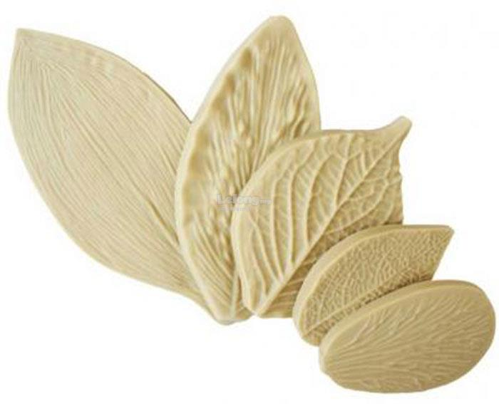 Multi Leaf Veiner Silicone Mould 5 pcs