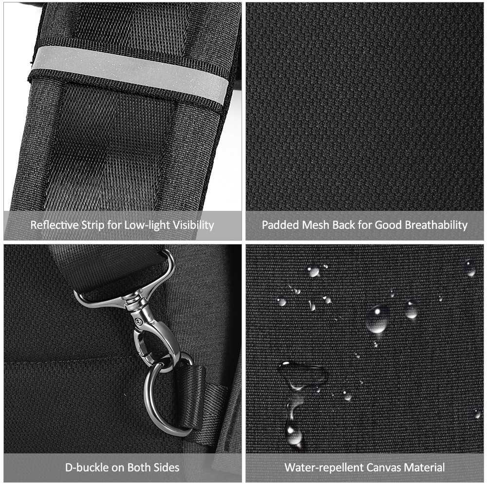 Multi-purpose Sling Backpack Chest Bag Crossbody Shoulder Bag Pack  Lightweight