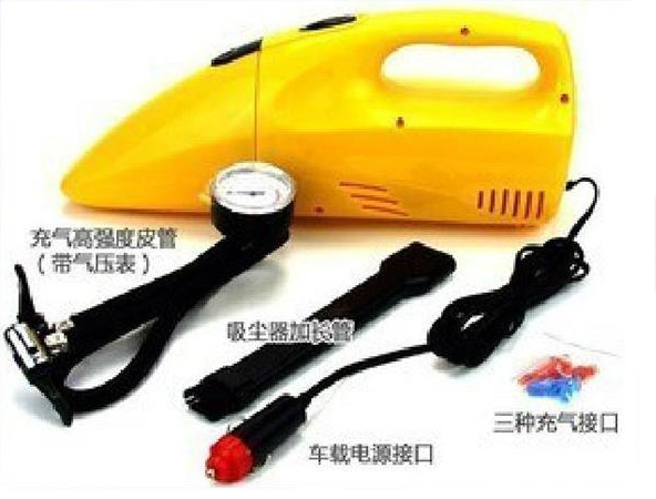 Multi-vehicle car vacuum cleaner air pump + gauge pump can suck coins