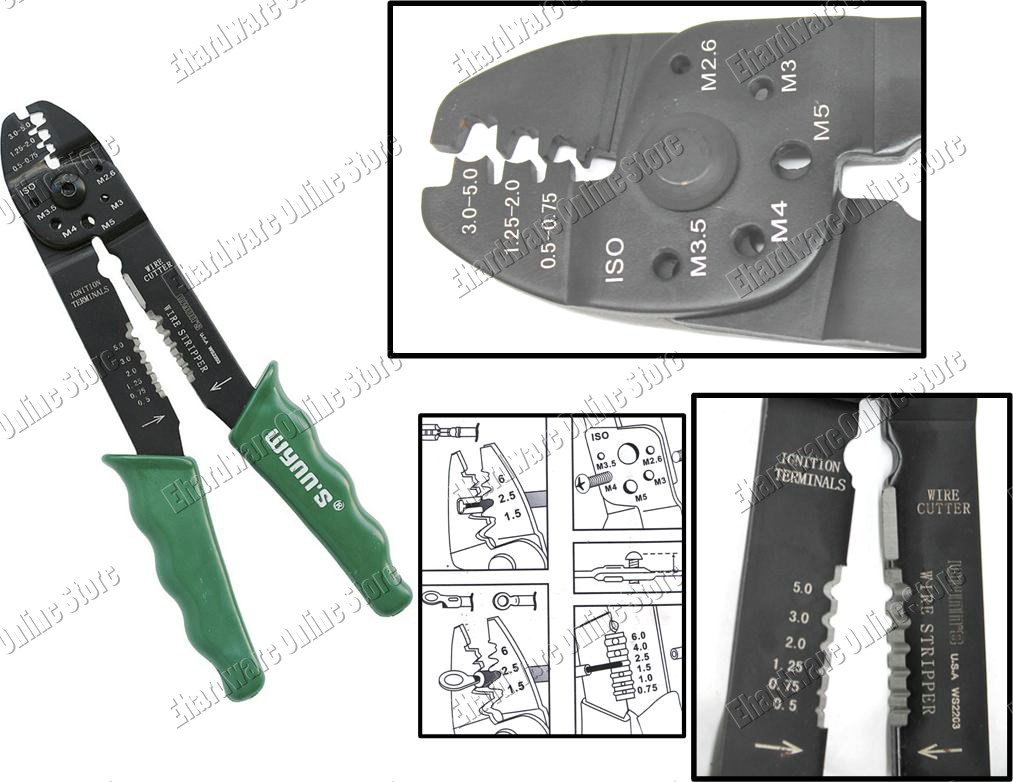 Multi Wire Terminal Crimper, Cutter & Stripper Pliers (WS2203)