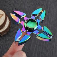 Multicolor Metal Fidget Spinner Crab Hand Design Long Anti Stress Toy