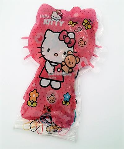 Multicolored Elastic Hair Rubber Bands/Ties - Hello Kitty Character