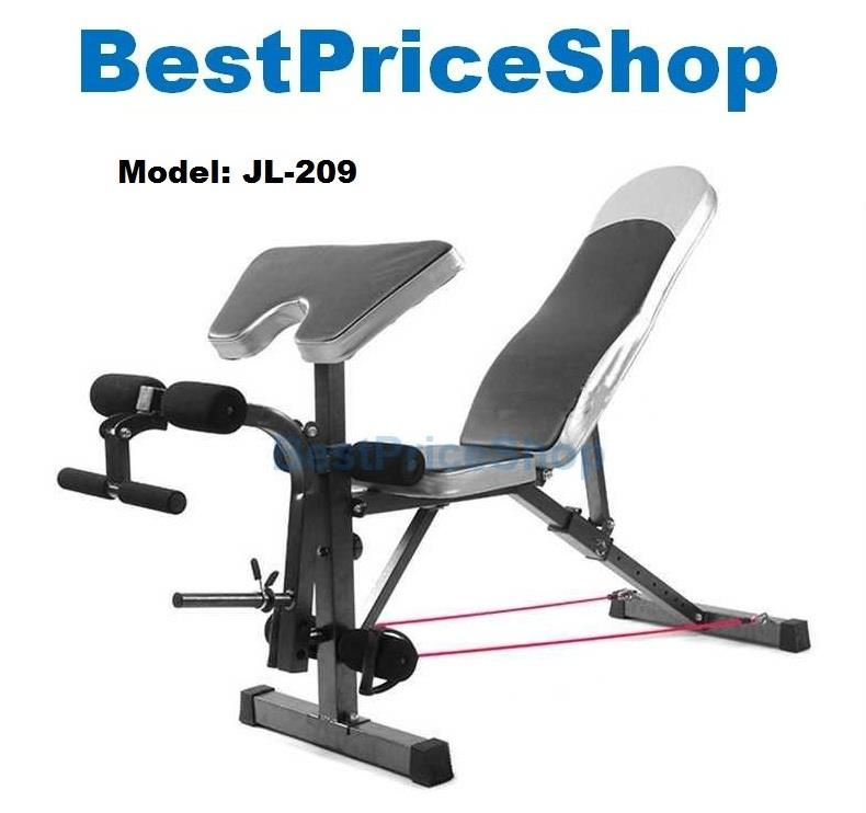 Adjustable Dumbbells Malaysia: Multifunction Dumbbell SitUp FID Preacher Curl Gym Bench