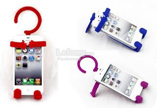Multifunction Flexible Silicone Human shape Hanger Cell Phone Holder