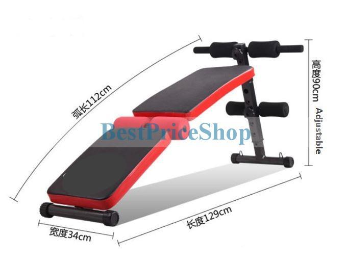 Multifunction Foldable Ab Crunch Sit Up Bench 6 Packs Abs SUB-JF02F