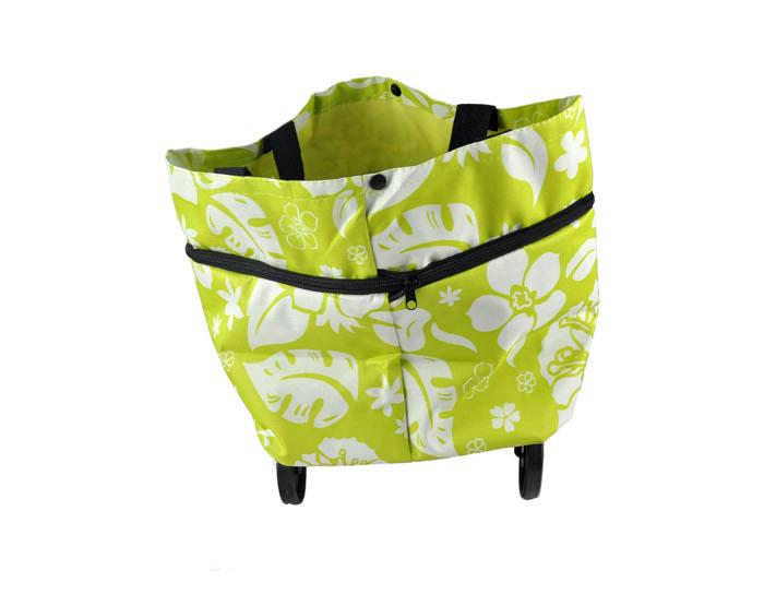 Multifunction Foldable Shopping Trolley Bags or Handcarry Bag w/ Wheel
