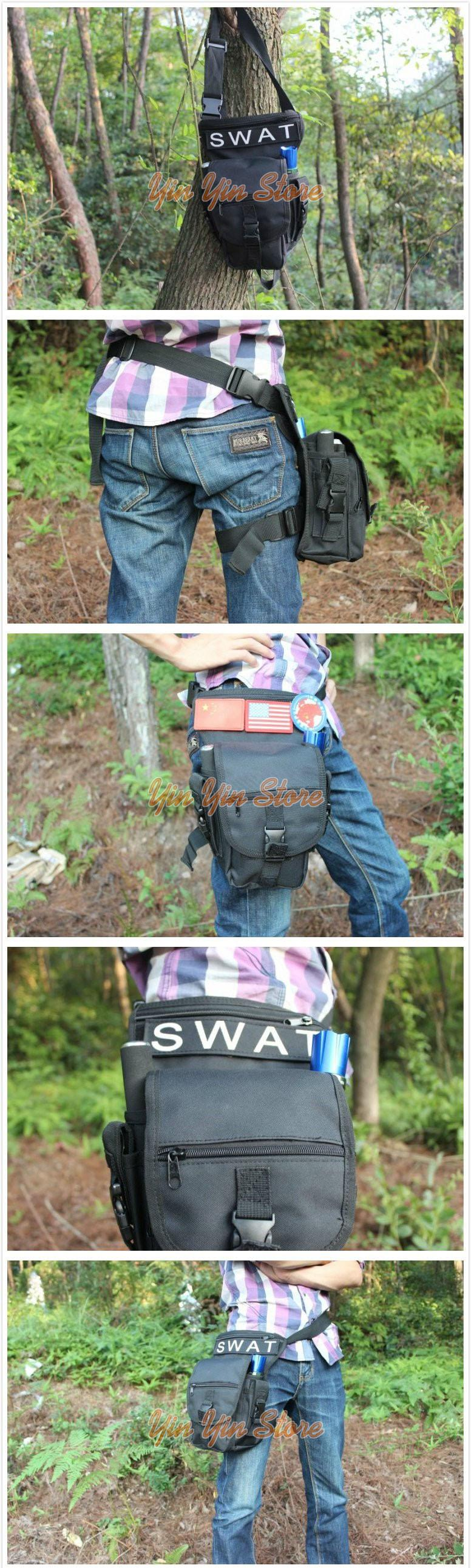 Multifunction Outdoor Sport Camping Leg Bag Pouch