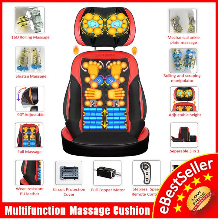 Multifunction pillow neck waist back home body massage cushion Chair