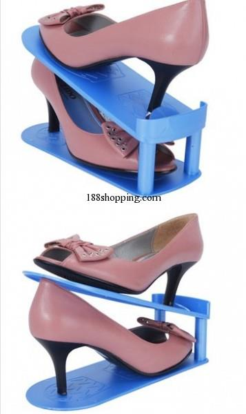 Multifunctional Adjustable Plastic High Heel Shoe Rack