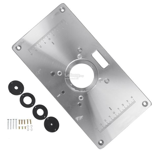 Multifunctional aluminium alloy rout end 1232019 315 pm multifunctional aluminium alloy router table insert plate for makita 7 keyboard keysfo Image collections