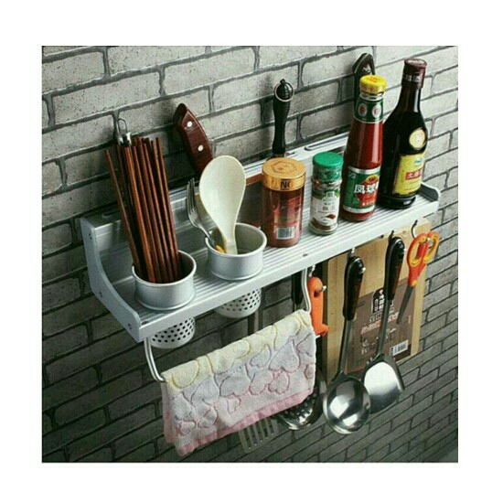 Multifunctional Aluminium Kitchen Rack With 2 Cups. U2039 U203a
