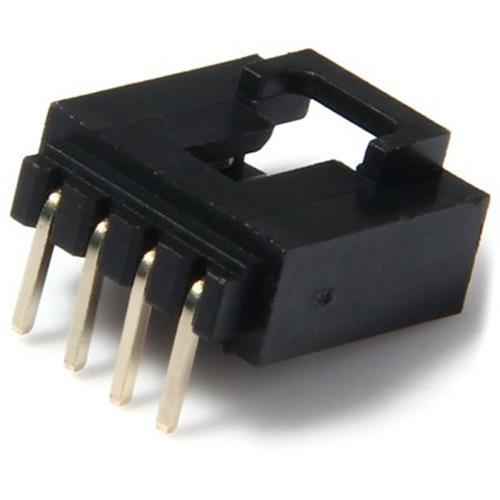 MULTIFUNCTIONAL DIY 4PIN 2 54MM PITCH AUDIO CONNECTORS - 100PCS (BLACK)