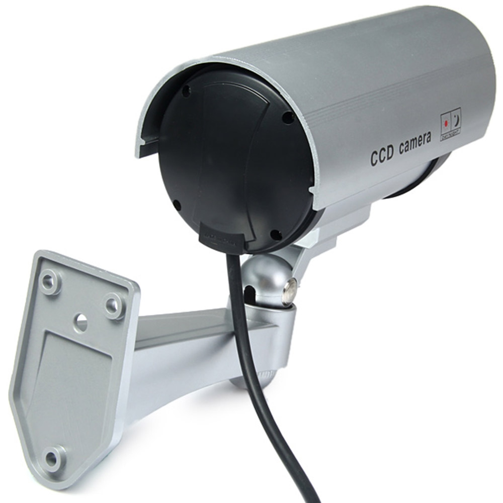 MULTIFUNCTIONAL DUMMY CCTV SECURITY CCD IR CAMERA WITH RED LED BLINKIN..