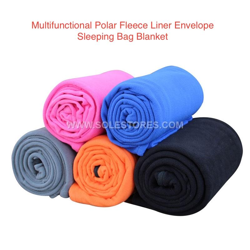 Multifunctional Polar Fleece Liner Envelope Sleeping Bag Blanket