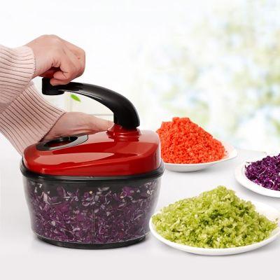 Multifunctional Vegetable Cutter Kitchen Food Grinder Tool (LOVE RED)