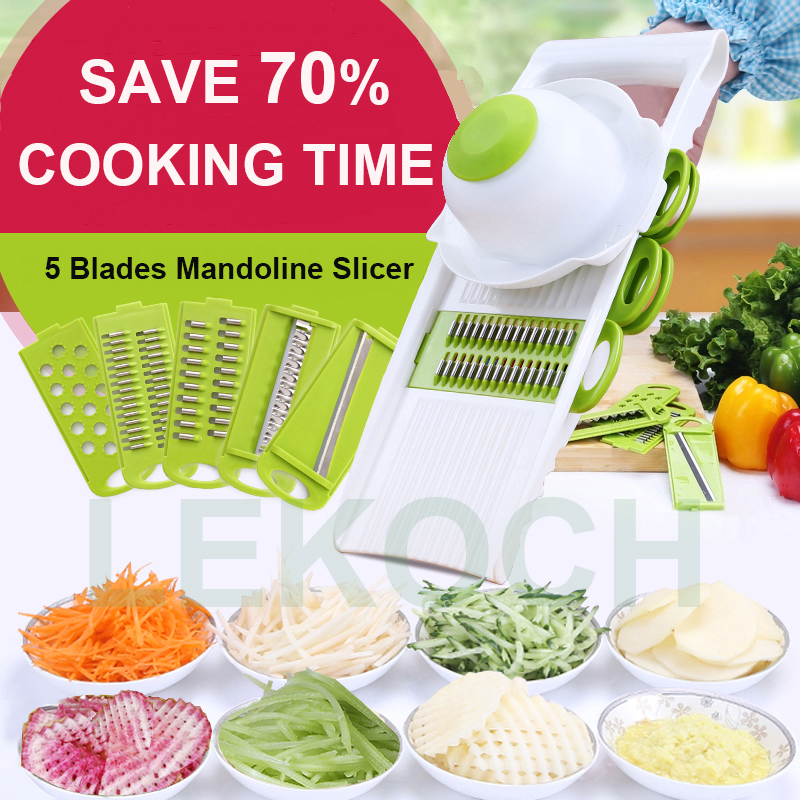 Multifunctional Vegetable Potato Slicer With 4 Interchangeable Stainle