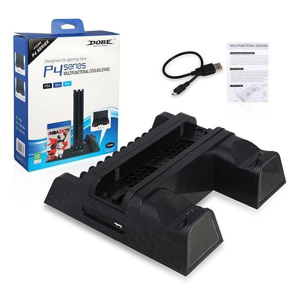 Multifunctional Vertical Cooling Stand Charger Station PS4 PS4
