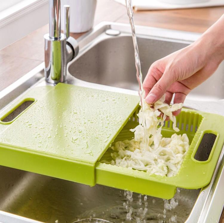 Multipurpose 3 In 1 Cutting Board Chopping Board Kitchen Sink