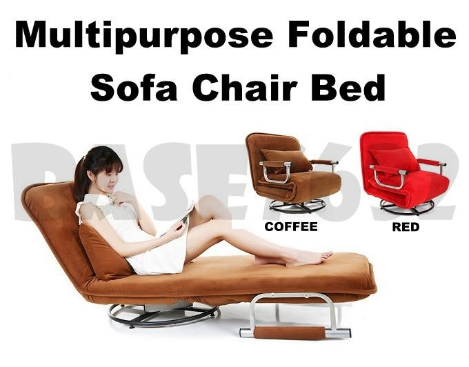 Multipurpose  Foldable Folding Single Spinning Chair Sofa Couch Bed