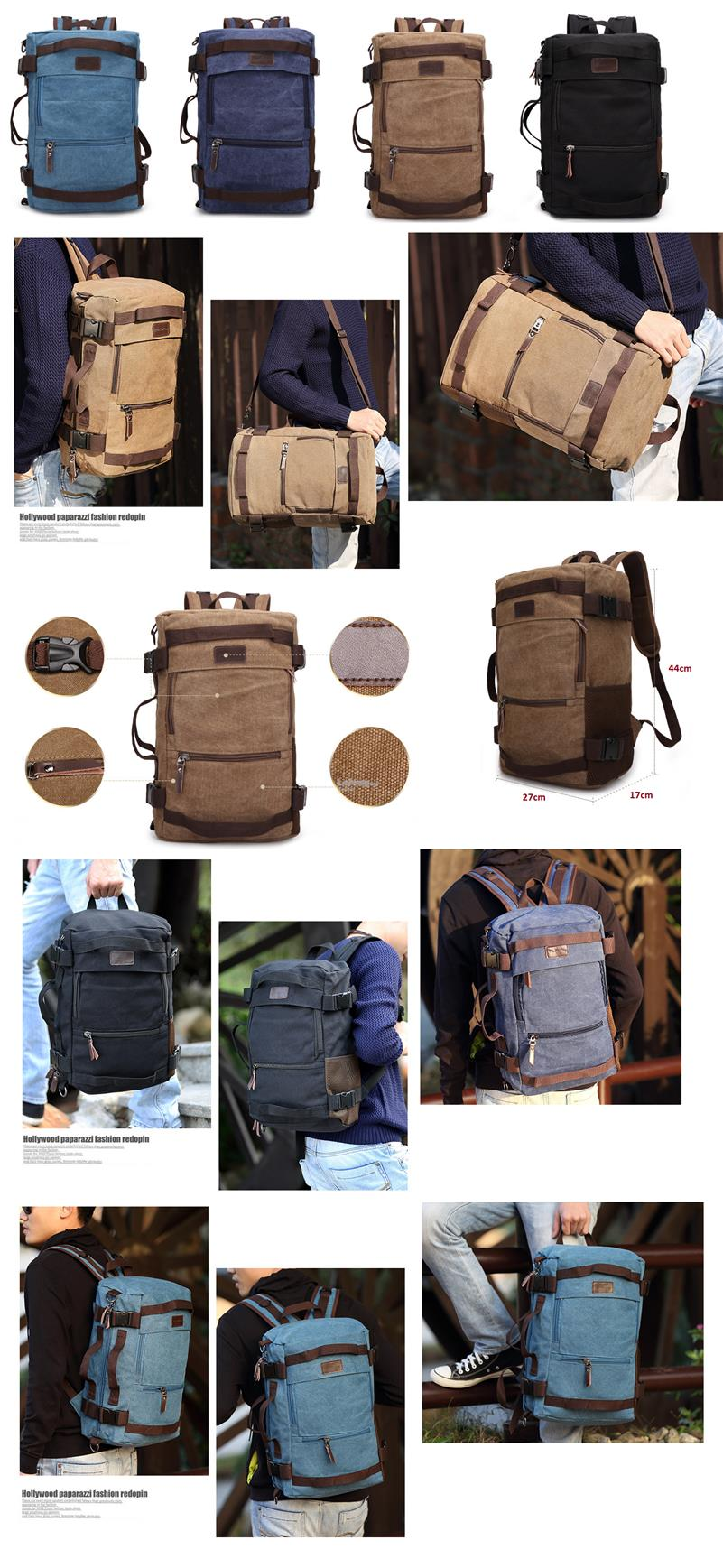 Multipurpose Hiking and Travel Canvas Backpack-Type B