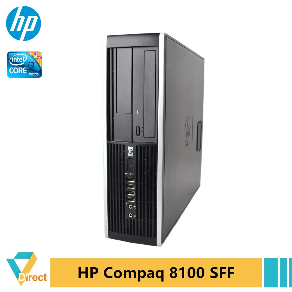 Murah 1st Gen i3 8GB 1TB SSD HP Compaq 8100 SFF desktop PC refurbished