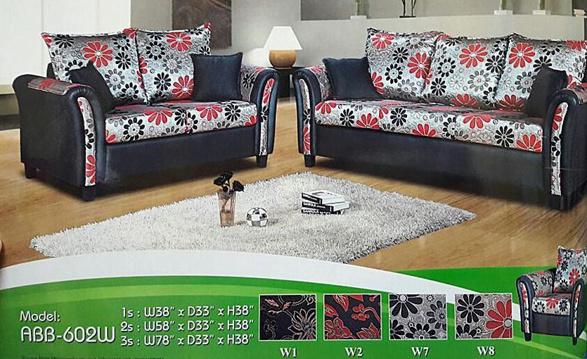 Murah Mewah Untuk Set Ruang Tamu L Shape Sofa Model M 602 W