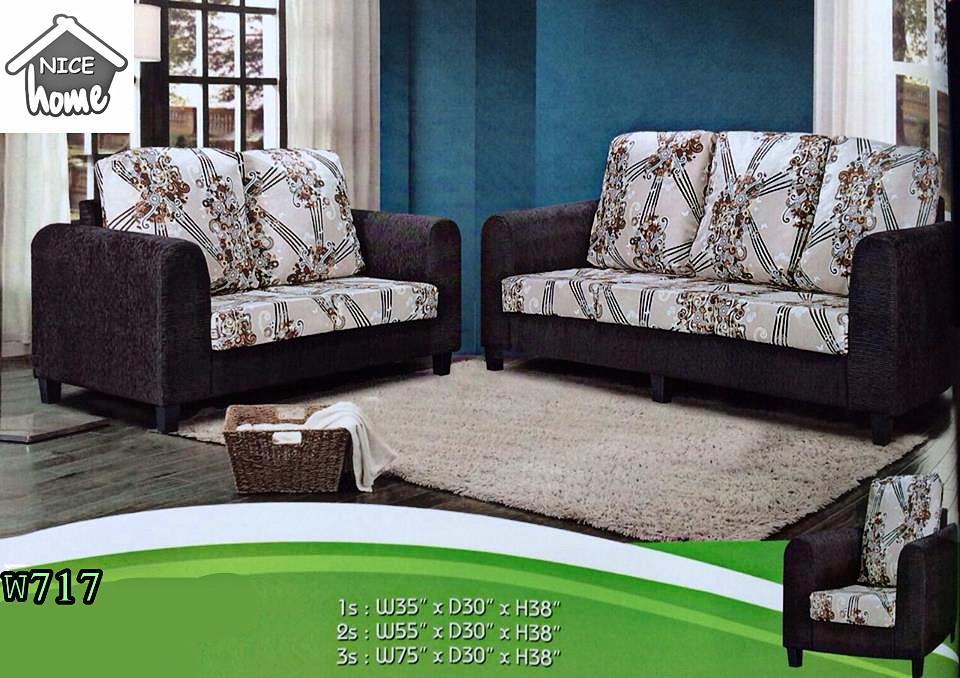 Murah Mewah Untuk Set Ruang Tamu Sofa 3 2 1 Seater Model W717