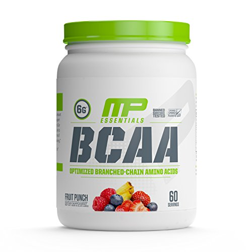 MusclePharm Essentials BCAA Powder, Post-Workout Recovery Drink, Fruit Punch,