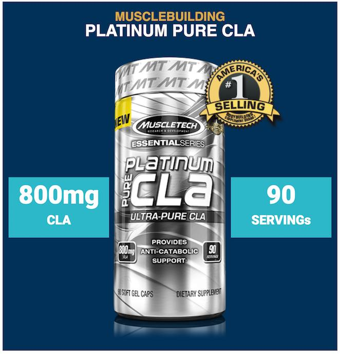 MuscleTech - Platinum Pure CLA (Amino, Burn Fat, Bakar Lemak) USA