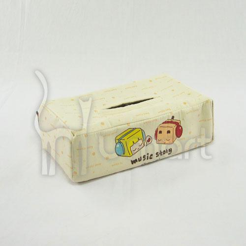 Music Boxman Car / Home Tissue Box Cover 100% Cotton