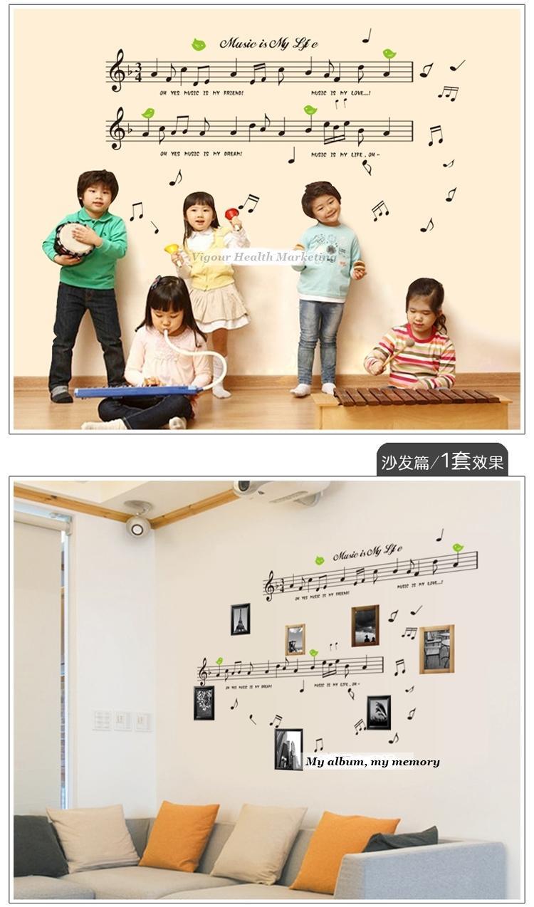 Music note music wall sticker home de end 542018 915 pm music note music wall sticker home deco sticker for music school art amipublicfo Gallery