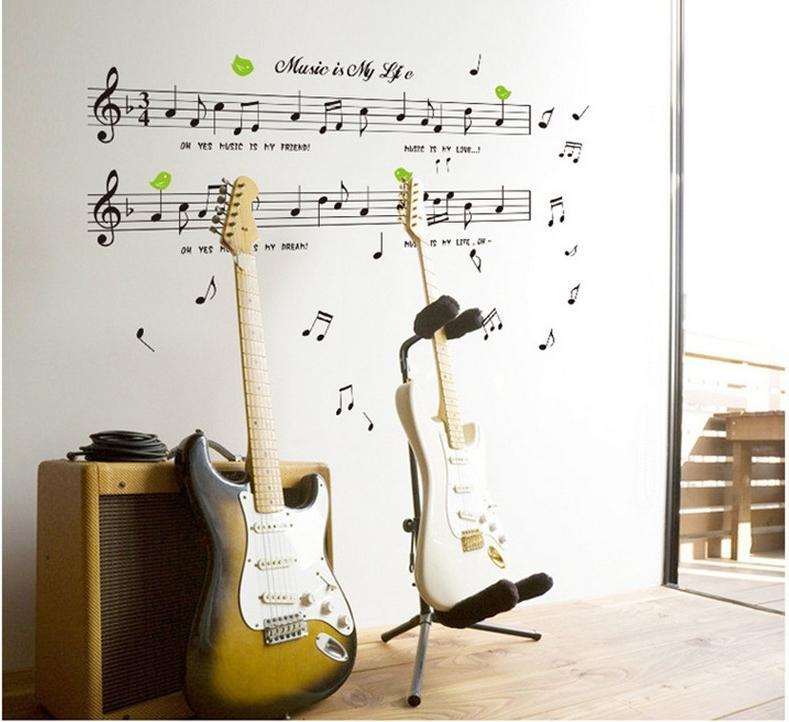Music Note Music Wall Sticker Home Deco Sticker For Music School Art Part 79
