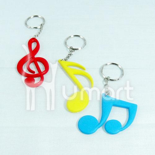 Music Note Soft Rubber Keychain