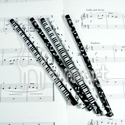 Music Notes Piano Painted Wood Pencil HB 9pcs per Pack