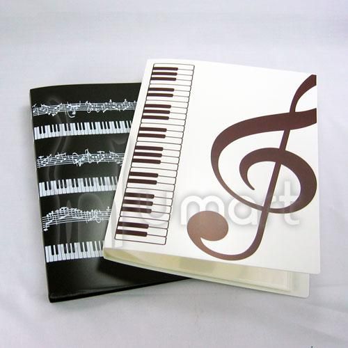 Music Theme Clear Folder 40 Pockets A4