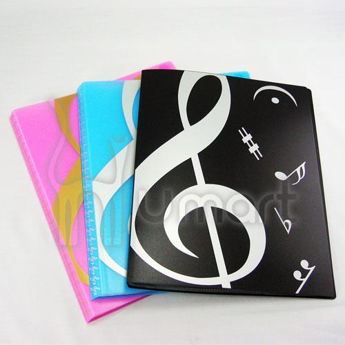 Music Theme colorful Clear Folder 20 Pockets A4