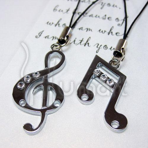 Music Treble Clef Semi Quaver Couple Handphome Strap (2 per set)