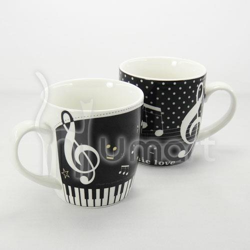 Musical Notes and Piano Ceramic Mug