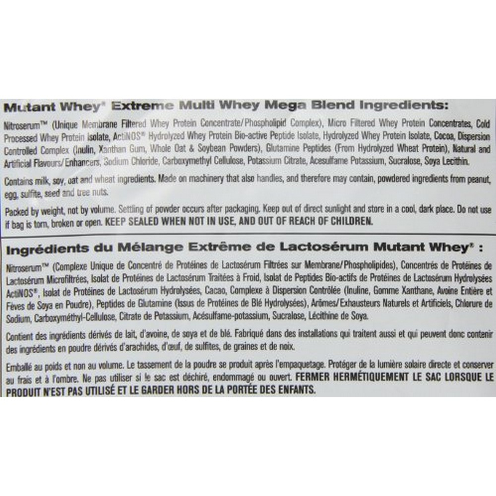 Mutant - Whey - 5 lbs (2.27 kgs) - Triple Chocolate Eruption