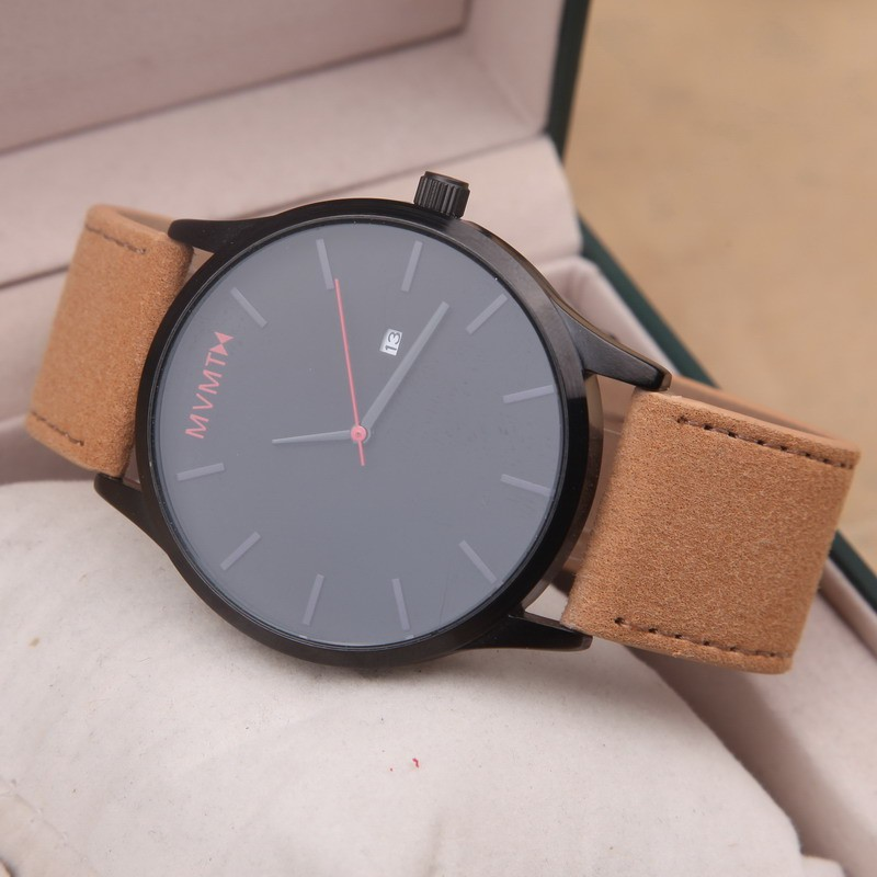 2a513c5b52491 MVMT Watches Black Face Tan Leather (end 6/5/2021 12:00 AM)