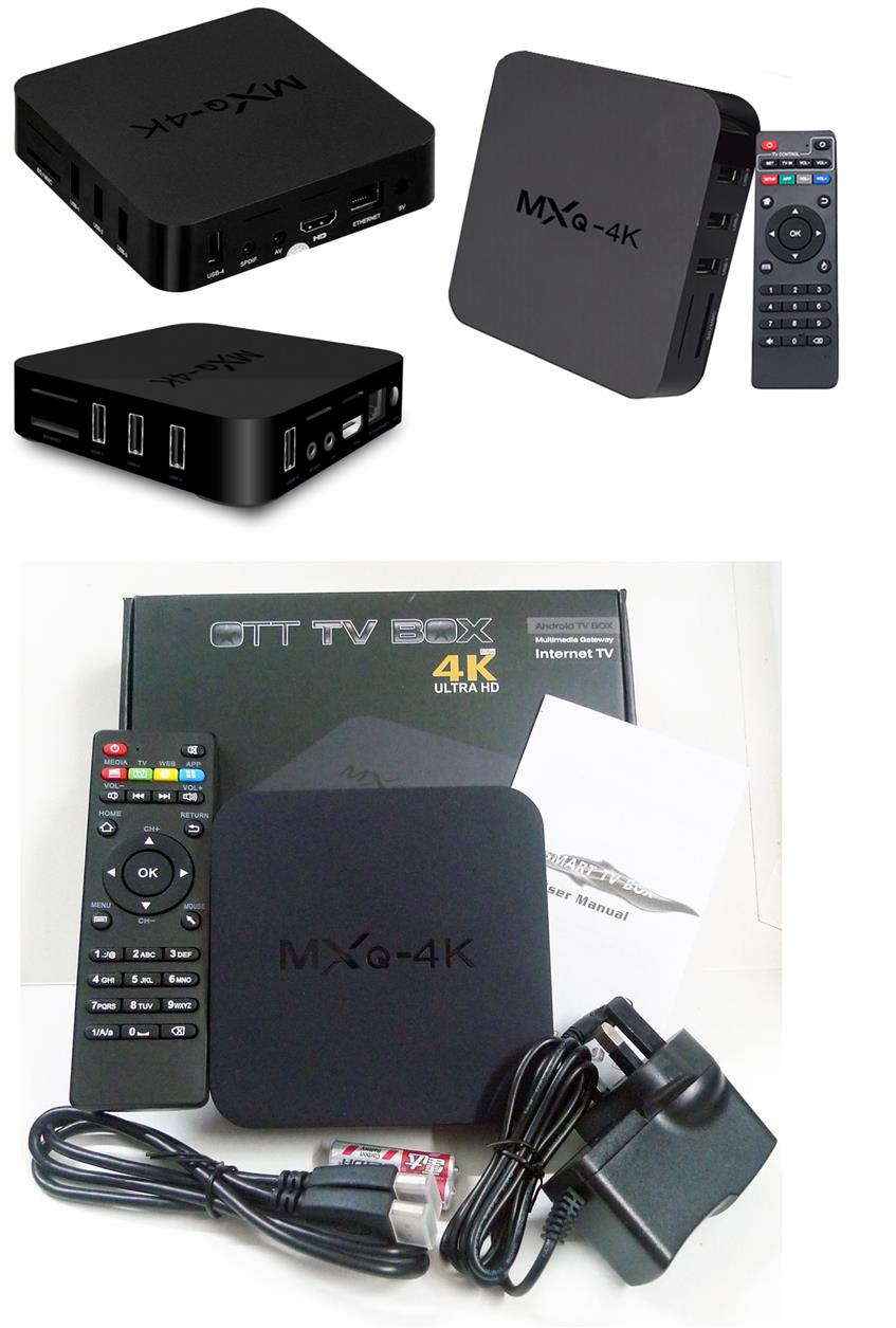 MXQ pro 4k V88 Android Box Smart TV Online Quad Core IPTV Wifi KODI