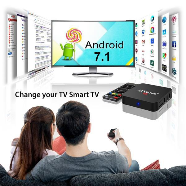 NEW MXQ PRO Plus Smart TV Box 2GB RAM 16GB ROM 4K UltraHD Android 7.1
