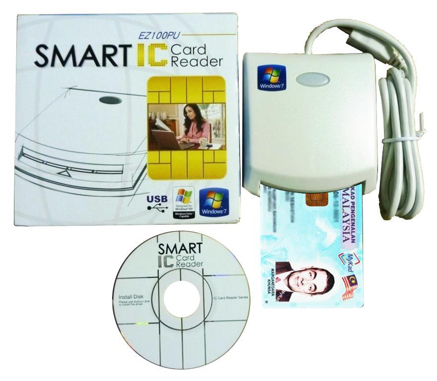 Mykad Reader / Smart Card Reader (1 year warranty)
