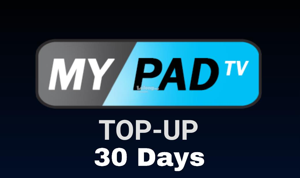 MYPADTV 30 DAYS TRIAL IPTV PIN RELOAD