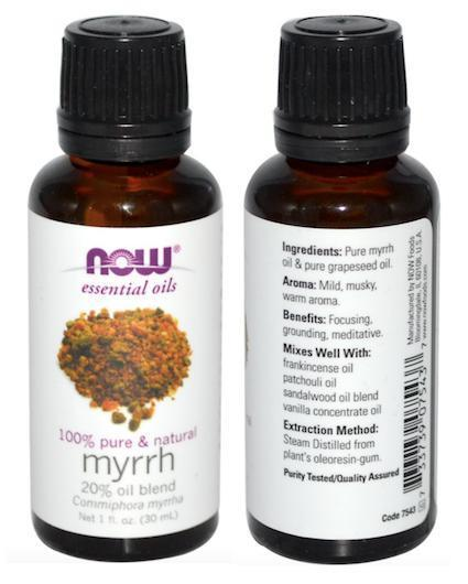 Myrrh 100% Pure Essential Oils, 20% Oil Blend, Made in USA (30ml)