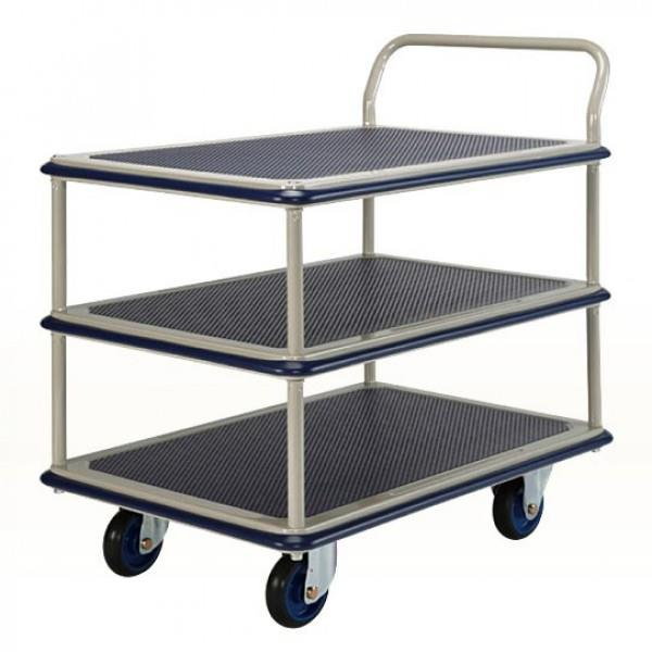 MYSTAR HAND TROLLEY 150KG TRIPLE DECKER SINGLE HANDLE