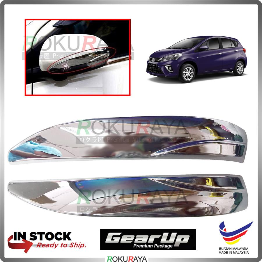 Myvi (3rd Gen) 2018 Gear Up Side Door Mirror Cover Moulding Chrome