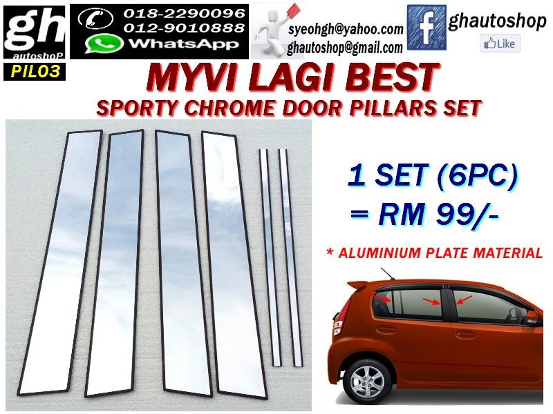 MYVI ICON / MYVI LAGI BEST sporty chrome door pillars set (6pcs)  sc 1 st  Lelong.my & MYVI ICON / MYVI LAGI BEST sporty ch (end 9/25/2018 9:15 PM)