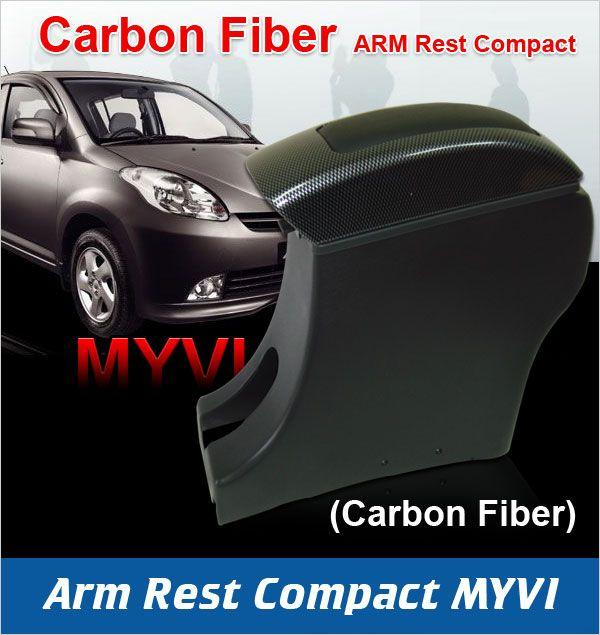 Myvi / Toyota Passo Armrest Arm Rest (Carbon Fiber) - High Quality